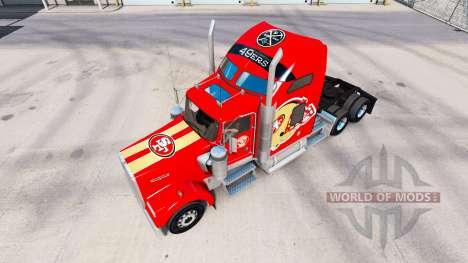 La piel de los San Francisco 49ers en los tracto para American Truck Simulator
