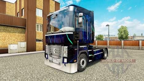 La piel de Humo Azul en el tractor Renault para Euro Truck Simulator 2