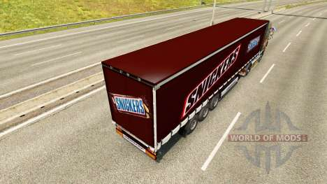 La piel de Snickers en el remolque para Euro Truck Simulator 2