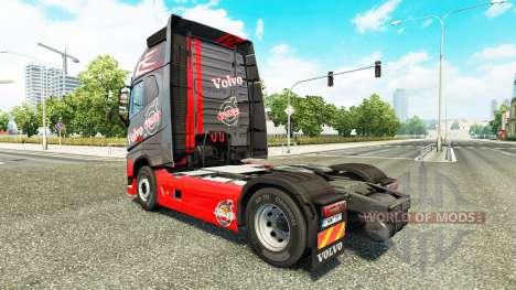 Gris Rojo de la piel para camiones Volvo para Euro Truck Simulator 2