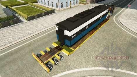 Bajo el barrido con una locomotora para Euro Truck Simulator 2
