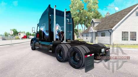 Skin Bitdefender tractor Peterbilt para American Truck Simulator