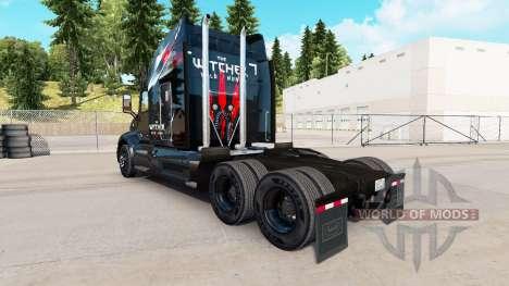 La piel de The Witcher Wild Hunt en el tractor P para American Truck Simulator