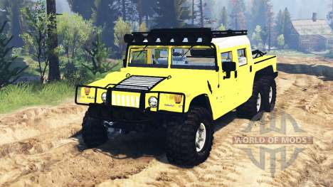 Hummer H1 6x6 Raptor para Spin Tires