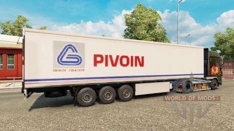 La piel Pivoin en el remolque para Euro Truck Simulator 2