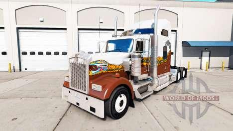 La piel Hatd Camión en camión Kenworth W900 para American Truck Simulator