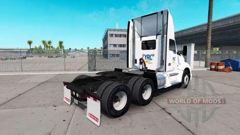 La piel YRC Freight en el tractor Kenworth para American Truck Simulator