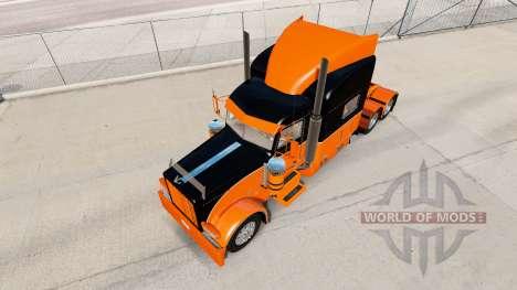 El Negro y el Naranja de la piel para el camión  para American Truck Simulator