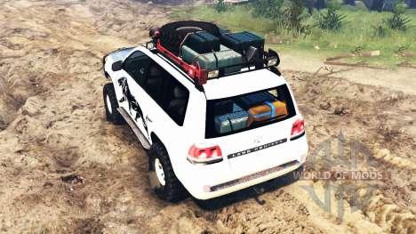 Toyota Land Cruiser 200 2008 para Spin Tires