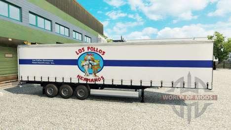 La piel de Los Pollos Hermanos en el remolque para Euro Truck Simulator 2