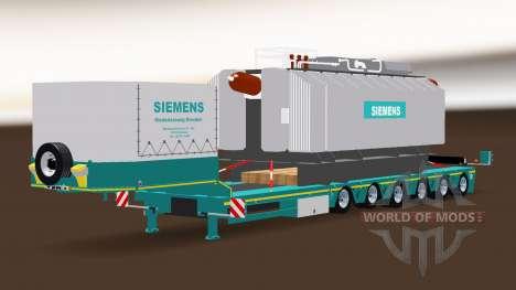 Siemens Transformador Trailer para American Truck Simulator