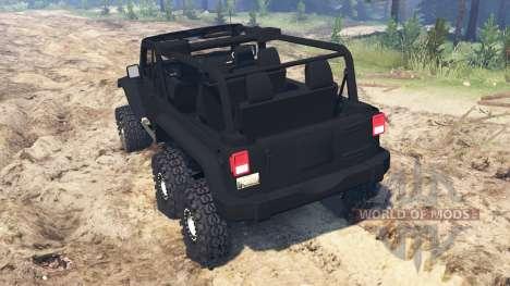 Jeep Wrangler 6x6 Turbo para Spin Tires