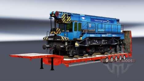 Semi-remolques con zeleznodoroznyj la línea de v para Euro Truck Simulator 2