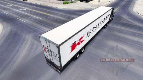 Todo el metal-semirremolque Caballero para American Truck Simulator