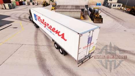 La piel de WalGreens en el remolque para American Truck Simulator