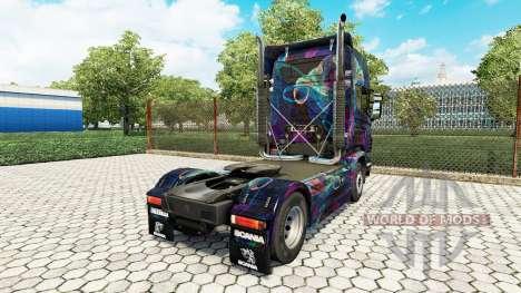 El Fractal de la Llama de la piel para Scania ca para Euro Truck Simulator 2