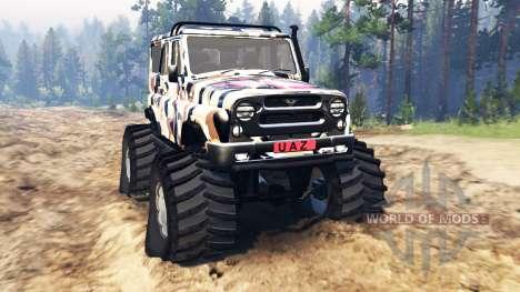UAZ-315195 hunter v2.0 para Spin Tires