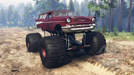 Chevrolet Bel Air Wagon 1957 [monster] para Spin Tires