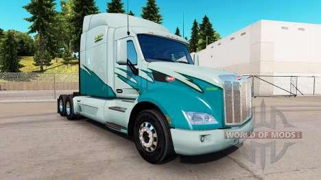 La piel en el Largo plazo camión Peterbilt para American Truck Simulator