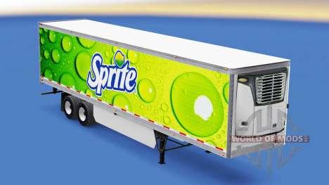 La piel de Sprite en refrigerada semi-remolque para American Truck Simulator