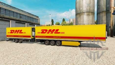 Semi-remolque Krone Gigaliner [DHL] para Euro Truck Simulator 2