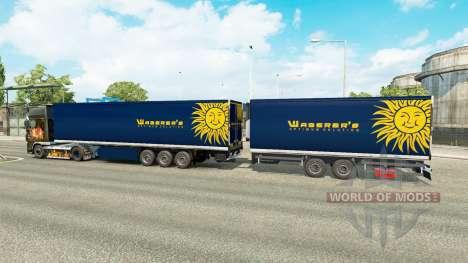 Semi Remolque De La Corona Gigaliner [Waberers] para Euro Truck Simulator 2