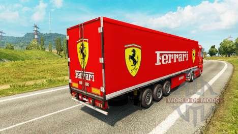 La piel de Ferrari en el tractor HOMBRE para Euro Truck Simulator 2
