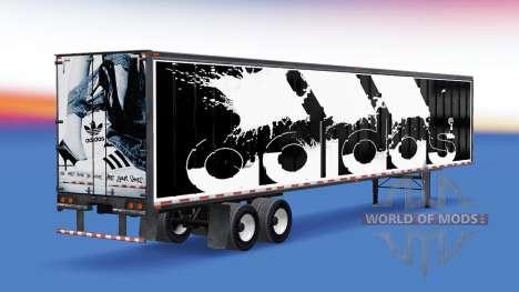 De metal semi-Adidas para American Truck Simulator