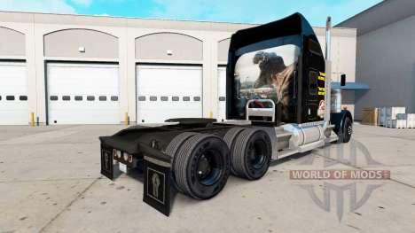 La piel de Jurassic World camión Kenworth W900 para American Truck Simulator
