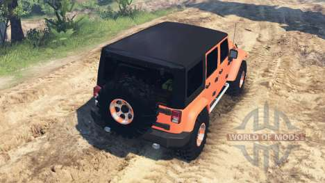 Jeep Wrangler Unlimited para Spin Tires