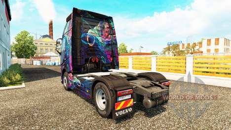 El Fractal de la Llama de la piel para camiones  para Euro Truck Simulator 2