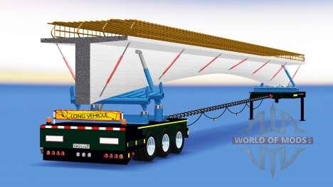 El remolque-disolución con una carga de puente d para American Truck Simulator