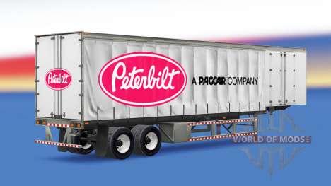 Cortina semi remolque Peterbilt para American Truck Simulator