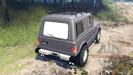 Mitsubishi Pajero I v3.0 para Spin Tires