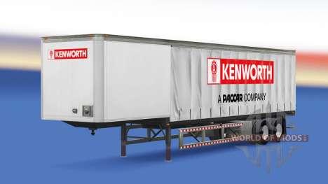 Cortina semi tráiler Kenworth para American Truck Simulator