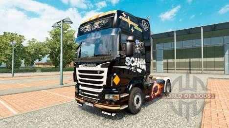 La piel Scania Negro para tractor Scania para Euro Truck Simulator 2