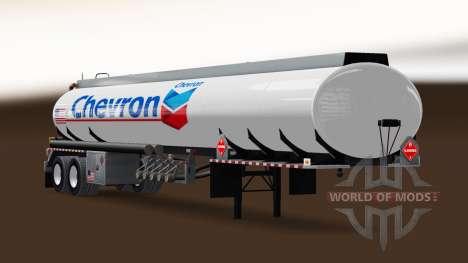 La piel de Chevron de combustible semi-remolque para American Truck Simulator