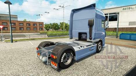 Piel Space Cab. DAF para Euro Truck Simulator 2