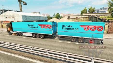 Semi-Remolque Krone Gigaliner [Danés Fragtmaend] para Euro Truck Simulator 2
