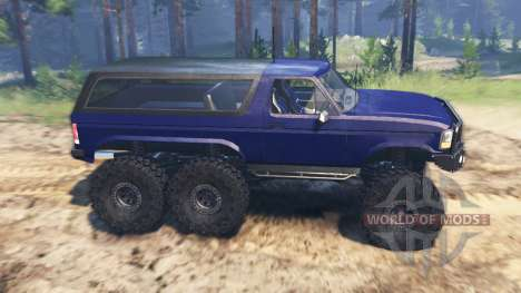 Ford Bronco 6x6 para Spin Tires
