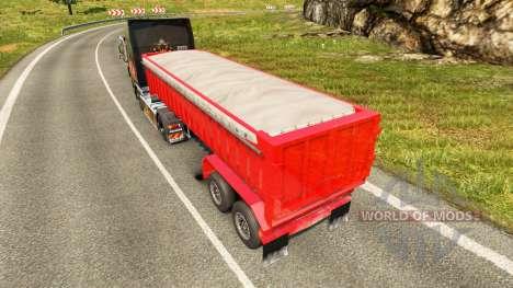 Semi-remolque, camión volquete para Euro Truck Simulator 2