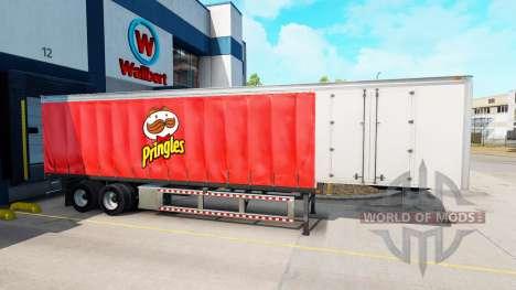 Cortina semi-remolque de Pringles para American Truck Simulator