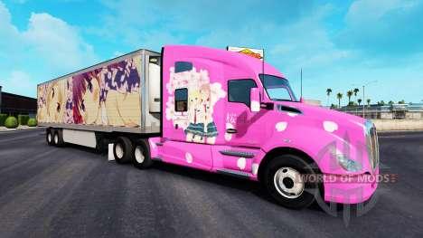 La piel de Sakura para camiones y Peterbilt Kenw para American Truck Simulator