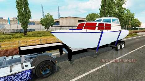 El remolque de la embarcación para Euro Truck Simulator 2