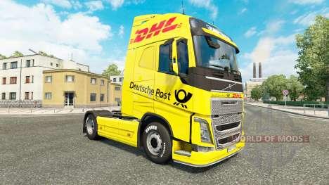 DHL piel para camiones Volvo para Euro Truck Simulator 2