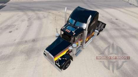 La piel de la puesta de sol en el camión Kenwort para American Truck Simulator