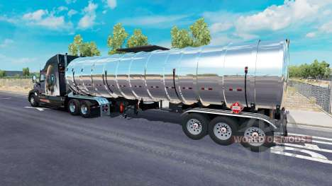 Chrome combustible semi-remolque para American Truck Simulator