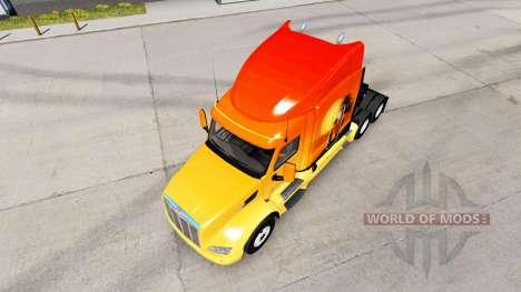 La piel del Sol en el tractor Peterbilt para American Truck Simulator