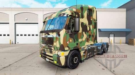La piel del Ejército en el camión Freightliner A para American Truck Simulator