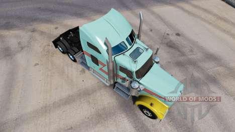 La piel Z banda Multicolor camión Kenworth W900 para American Truck Simulator